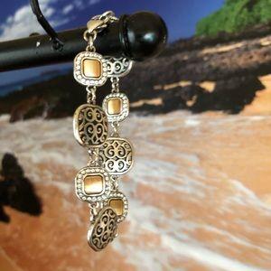 Brighton silver/gold Swarovski Chrystal bracelet